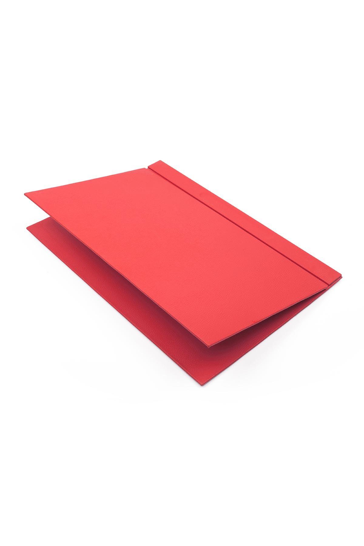 Kapaklı Deri Sümen Kırmızı