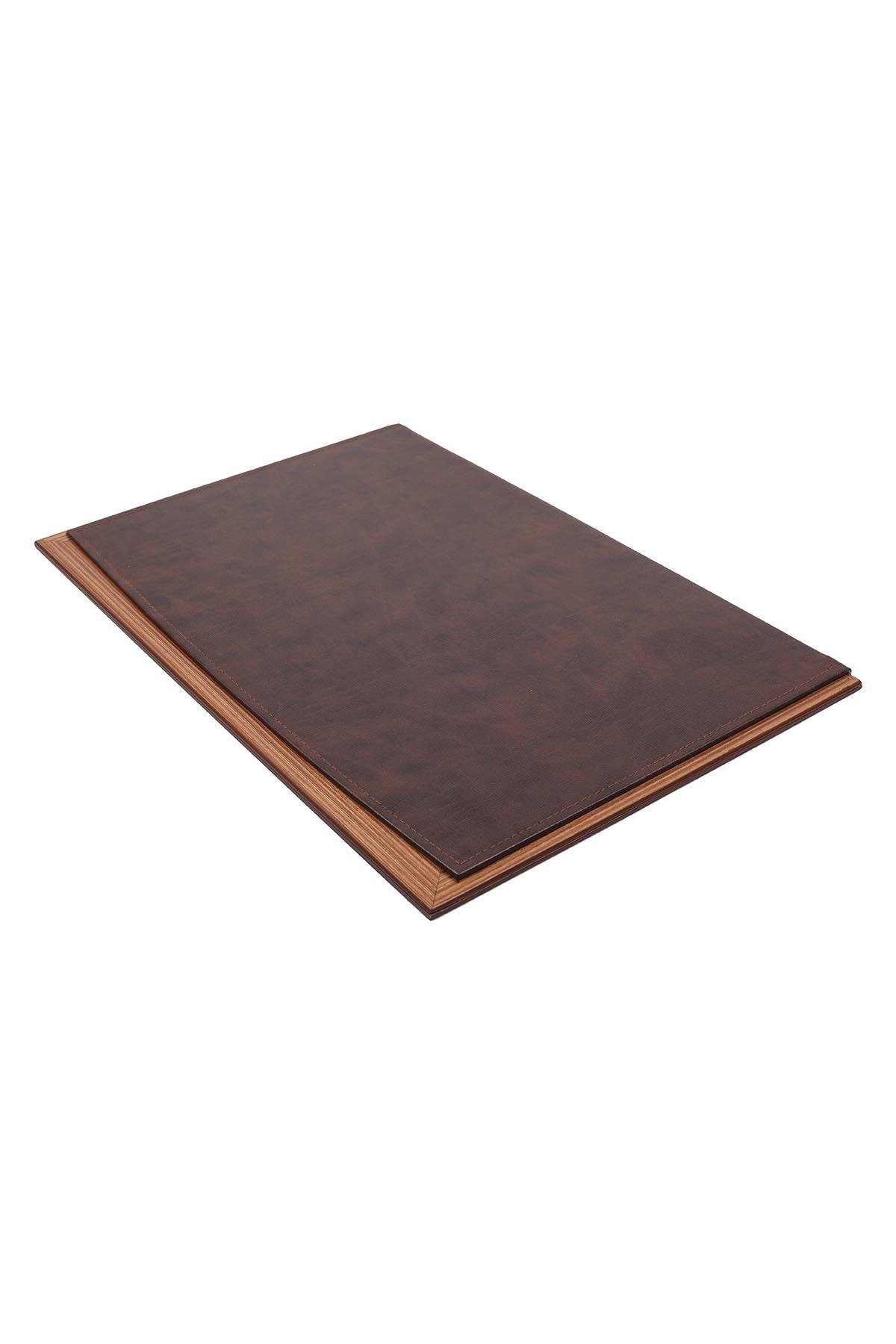 Star Lux Leather Desk Set Brown 11 Accessories