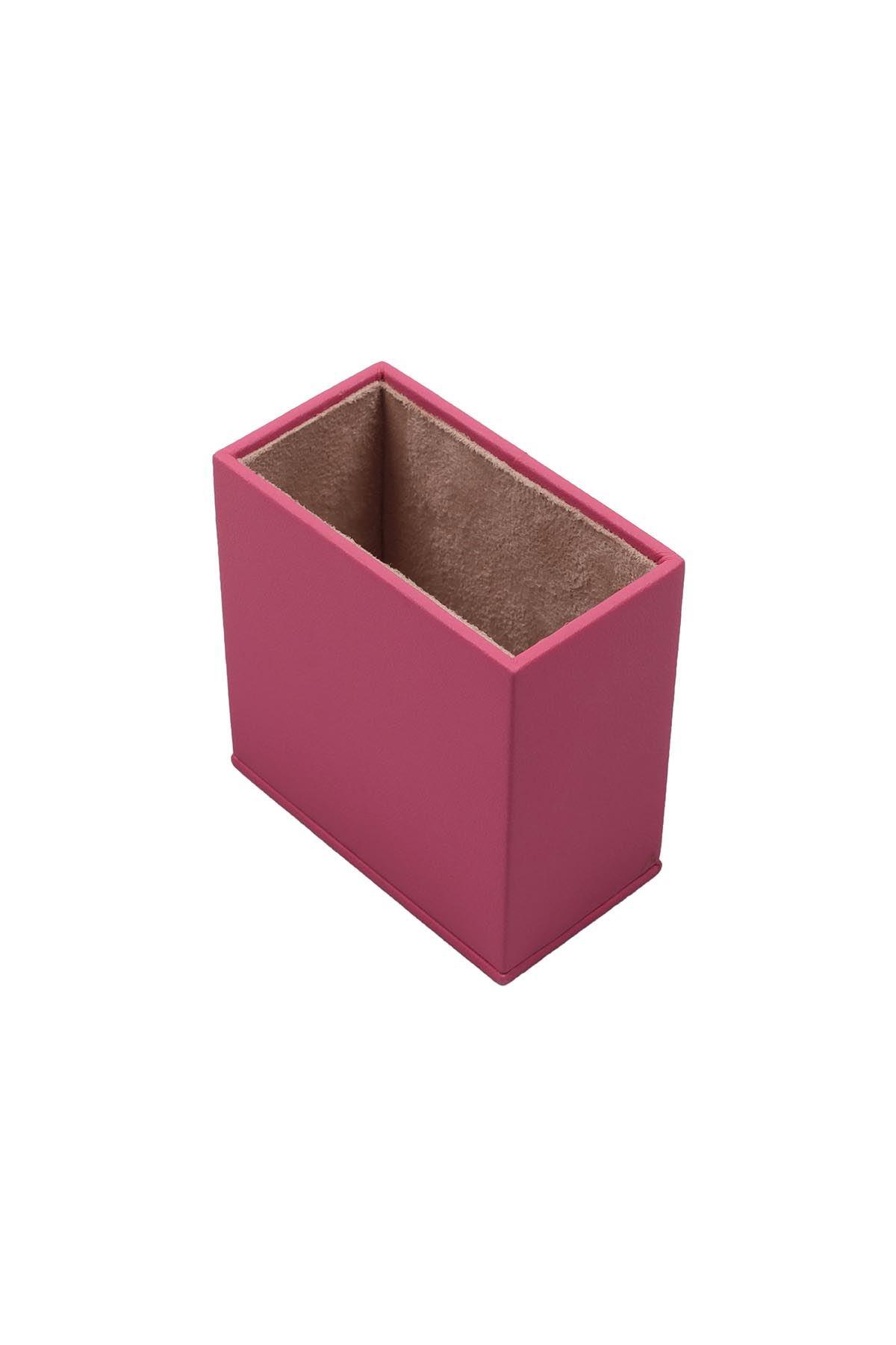 Leather Desk Set 8 Accessories Pink