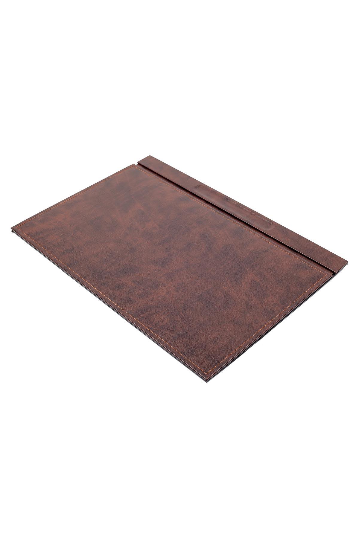 Leather Desk Set 8 Accessories Brown