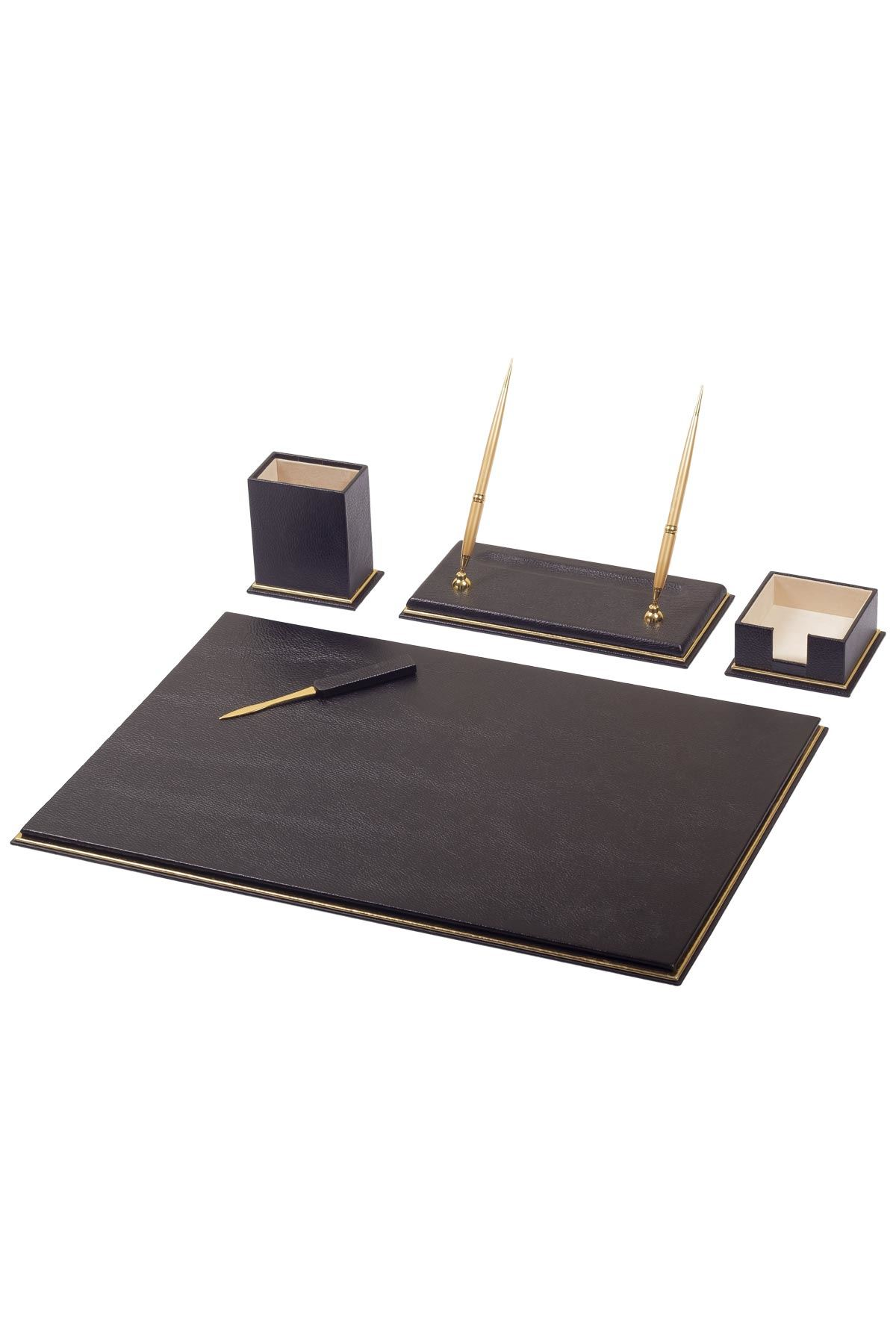 Real Cow Leather Desk Set 7 Accessories