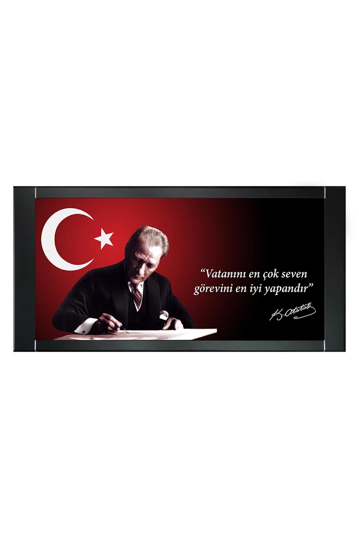 M. Kemal Atatürk Printed Manager Board | Printed Manager Board | Leather Framed Board | High Quality Manager Board