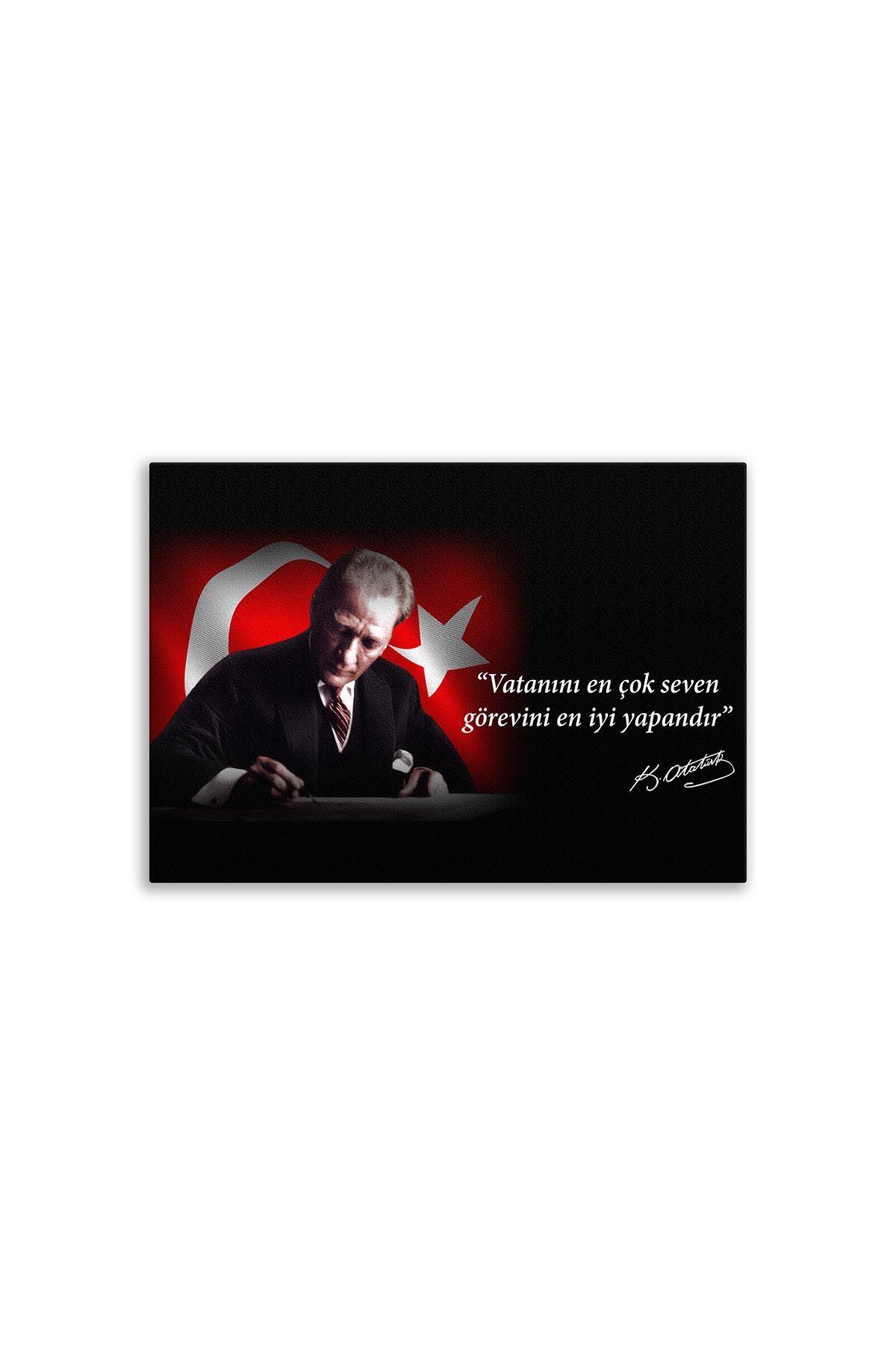 Founder of Turkiye Ataturk Canvas Board | Printed Canvas Board | Customized Canvas Board |Digital Printing