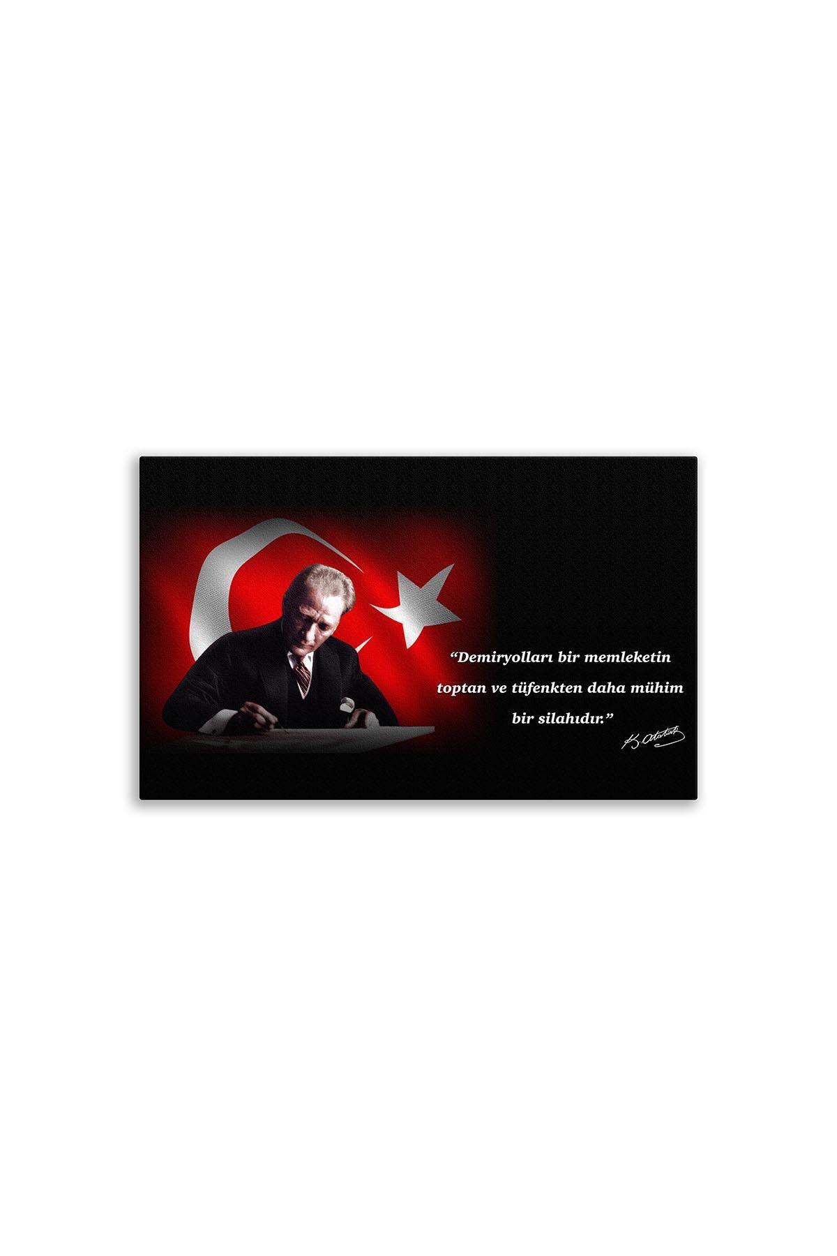 Atatürk Dekoratif Kanvas Tablo