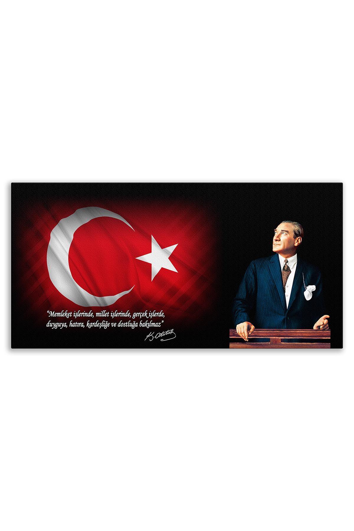 Atatürk In Council Canvas Board | Printed Canvas Board | Customized Canvas Board