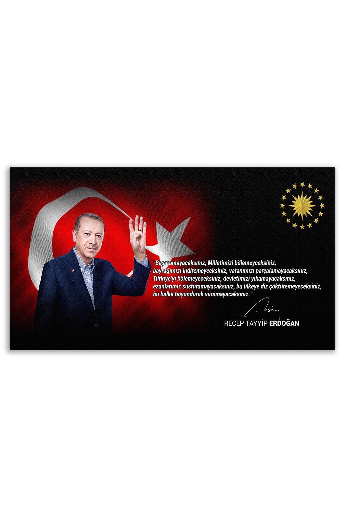 13th Turkish President Recep Tayyip Erdoğan Canvas Board | Printed Canvas Board | Customized Canvas Board |Digital Printing