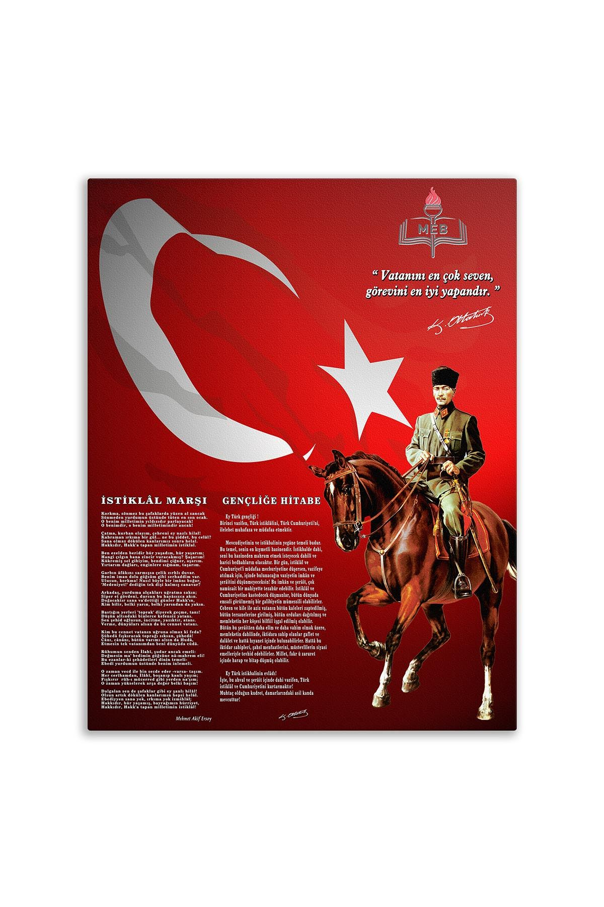 Cavalry Ataturk Canvas Board   Printed Canvas Board   Customized Canvas Board  Digital Printing