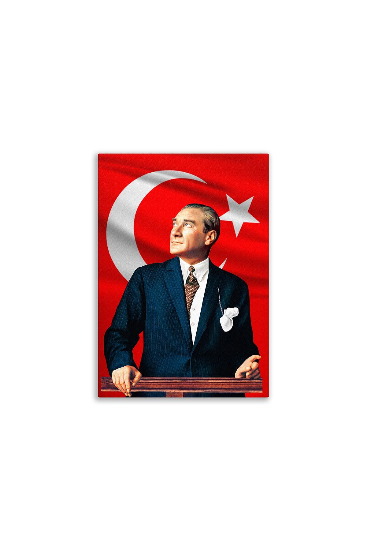 Ataturk Portrait Canvas Board | Printed Canvas Board | Customized Canvas Board