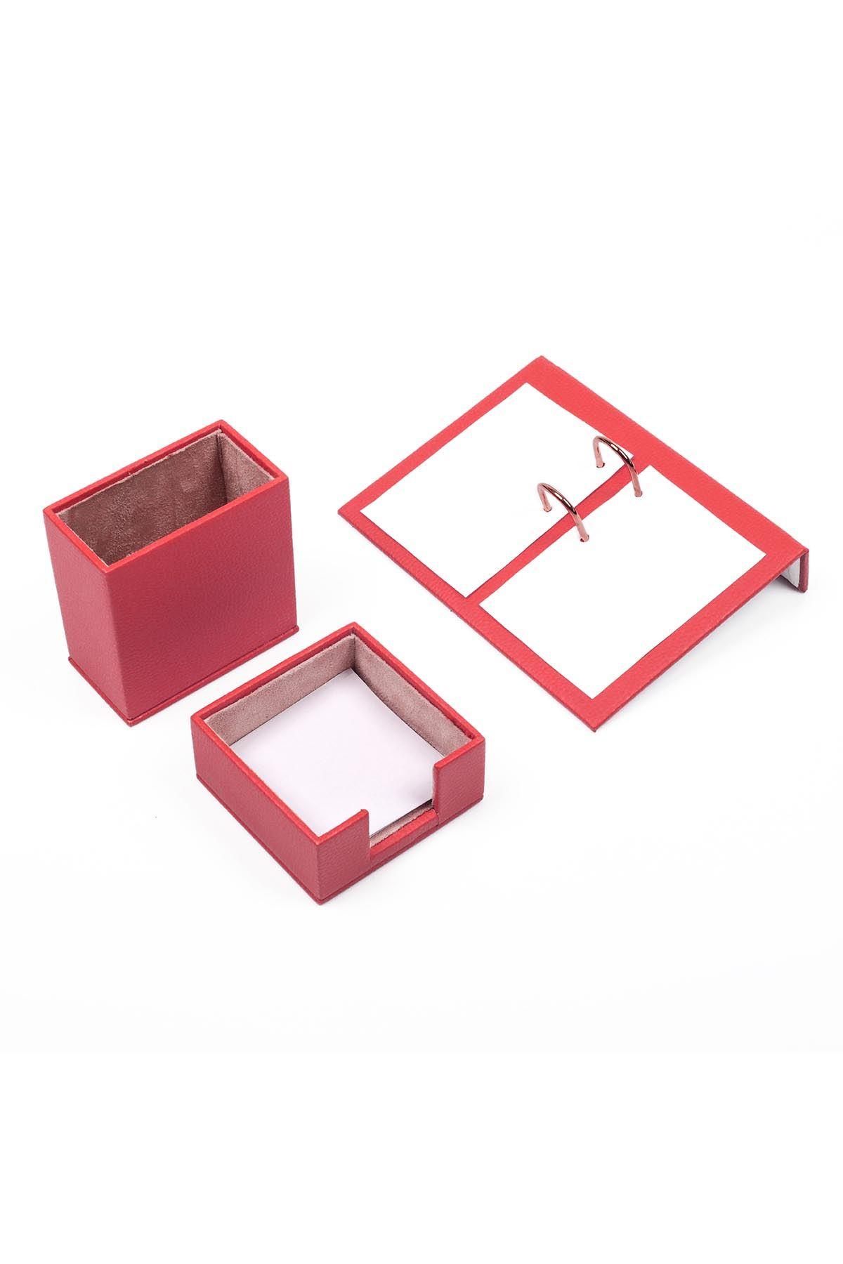 Leather Desk Accessories set of 3 Orange| Desk Set Accessories | Desktop Accessories | Desk Accessories | Desk Organizers