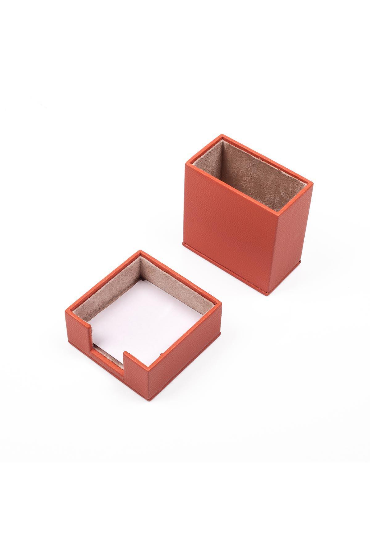 Leather Desk Accessories set of 2 Orange| Desk Set Accessories | Desktop Accessories | Desk Accessories | Desk Organizers