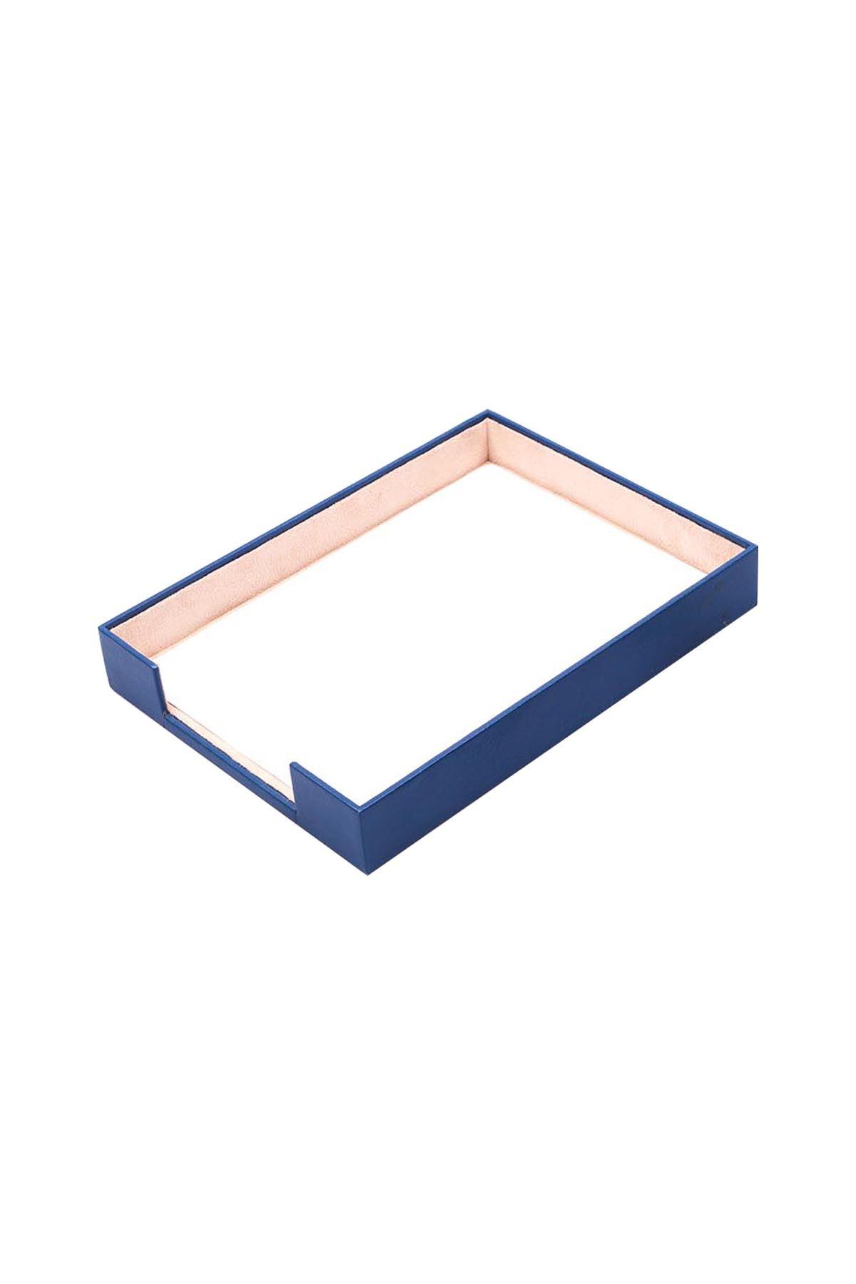 Document Tray Blue| Leather Document Organizer | Leather Tray | Leather Organizer | Document Shelf