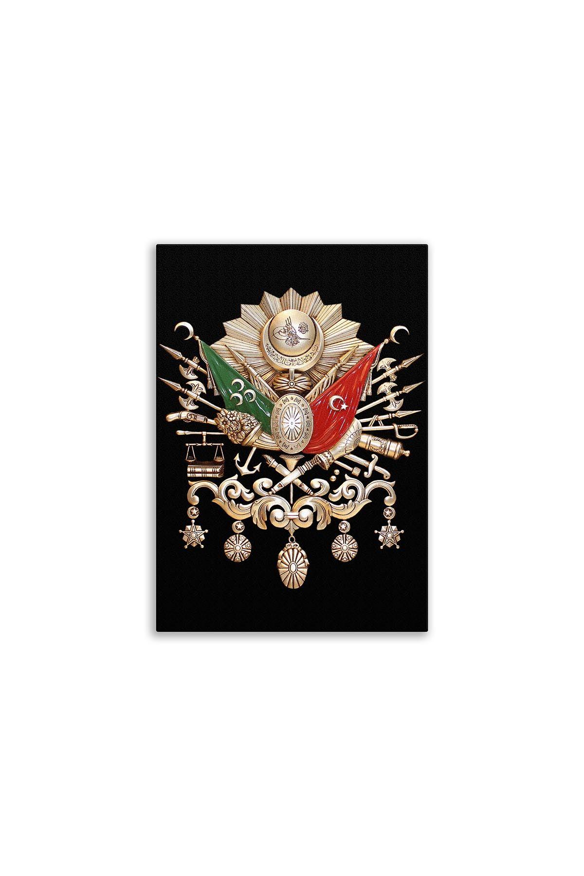 Ottoman State Emblem Canvas Board